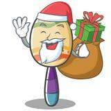 Style de bande dessinée de caractère de maracas de Santa Image stock