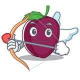 Style de bande dessinée de caractère de prune de cupidon Image libre de droits