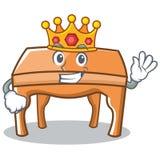 Style de bande dessinée de caractère de table de roi illustration libre de droits