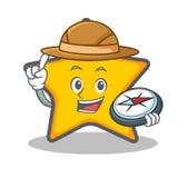 Style de bande dessinée de caractère d'étoile d'explorateur illustration stock