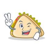 Style de bande dessinée de caractère de sandwich à deux doigts Photo stock