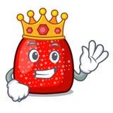 Style de bande dessinée de mascotte de boule de gomme de roi illustration stock
