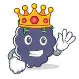 Style de bande dessinée de mascotte de mûre de roi Image stock