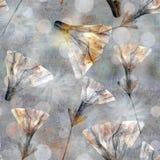 Style de batik Stylization de pastel de vintage Modèle coloré sans couture floral lumineux pour l'album Collage avec des fllwers  illustration libre de droits