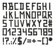 Style de bloc d'alphabet de marqueur Photos stock