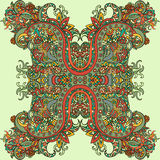 Style de Boho, ornement ethnique Modèle naturel d'usine florale abstraite Illustration de Vecteur