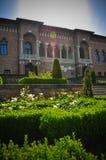 Style de Brâncovenesc de la Renaissance de Wallachian d'architecture de palais vieux Photographie stock libre de droits