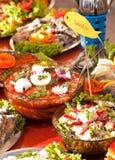 Style de buffet de nourritures de poissons Image stock