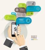 Style de calibre de la parole de bulle de secteur d'affaires de la téléphonie mobile illustration libre de droits