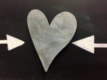 Style de coeur et deux flèches Photographie stock