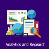 Style de conception de l'avant-projet d'Analytics et de recherches Photographie stock