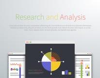Style de conception de l'avant-projet d'Analytics et de recherches Images libres de droits