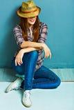 Style de cow-girl Photo de style ancien de mode Image libre de droits