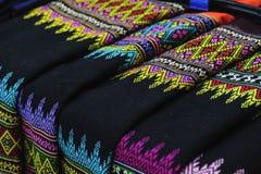 Style de cru de textile tiss? de main photographie stock libre de droits