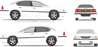Style de dimension de voiture Image stock