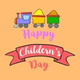 Style de fond du jour des enfants heureux