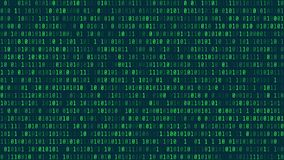 Style de fond de Matrix Wallpa d'écran de virus informatique et de pirate informatique Images libres de droits