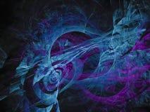 Style de fractale, future idée créative d'ornement de carte fantastique de concept rendant le mystère, magie de conception illustration libre de droits