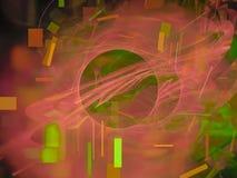Style de fractale, future idée créative d'ornement de concept de carte fantastique de puissance rendant le fond de mystère, magie illustration de vecteur