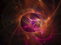 Style de fractale, future idée créative d'ornement de forme de carte moderne fantastique de puissance rendant le fond de mystère, illustration de vecteur