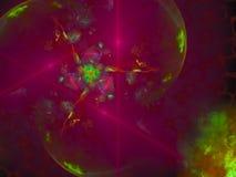 Style de fractale, future idée créative d'ornement de la science de carte moderne fantastique de puissance rendant le fond de mys illustration de vecteur