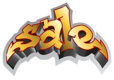 Style de graffiti Graffiti de vente Inscription de vente, art urbain Image stock