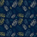 Style de grunge d'ornement d'Autumn Seamless Pattern Background Leaves Images libres de droits