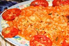 Style de Haïtien de salade de choux Photo stock