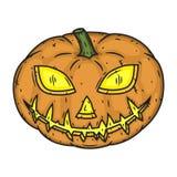 Style de handdraw de potiron de Halloween d'isolement sur le fond blanc Photographie stock