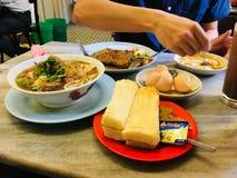 Style de Hong Kong de petit déjeuner de vieille école Image stock