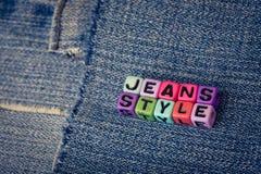 Style de jeans Photographie stock libre de droits