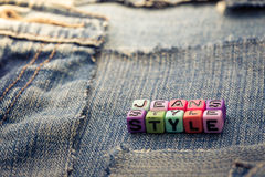 Style de jeans Photographie stock