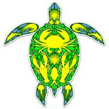 Style de Marine Life Abstract Symbol Tattoo de récif de tortue de mer Images stock
