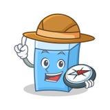Style de mascotte de caractère de gomme d'explorateur illustration de vecteur