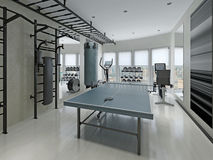 Style de minimalisme de centre de fitness Photos libres de droits