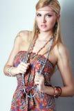 Style de mode de Boho Photographie stock
