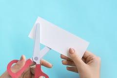Style de papier Art Concept d'inspiration d'idées de ciseaux photographie stock