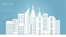 Style de papier d'art pour le fond architectural de bâtiment et de paysage urbain Images stock