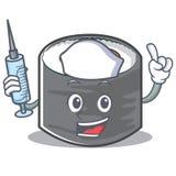 Style de personnage de dessin animé de sushi d'infirmière Images libres de droits