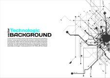 style de pointe de la science fiction de Cyberpunk de fond d'absract de technologie Photographie stock