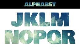 Style de police coloré d'alphabet isolé par polygone illustration de vecteur