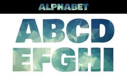 Style de police coloré d'alphabet isolé par polygone illustration libre de droits