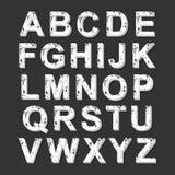 style de police de grunge de l'alphabet 3D Photographie stock libre de droits