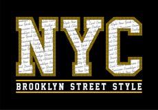 Style de rue de NYC Brooklyn Illustration Libre de Droits