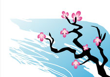 Style de Sakura Japanese Image stock