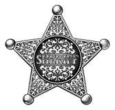 Style de Star Badge Western de shérif Photo libre de droits