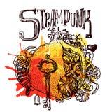 Style de steampunk de grenat Photo stock