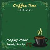Style de tableau de vert de menu de café Photo libre de droits