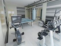 Style de techno de centre de fitness Photo stock
