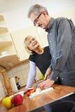 Style de vie aîné sain Image libre de droits
